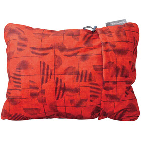 Therm-a-Rest Compressible Almohada L, red print